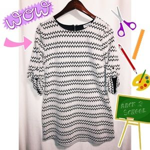 Back to school cute black and white dress!!